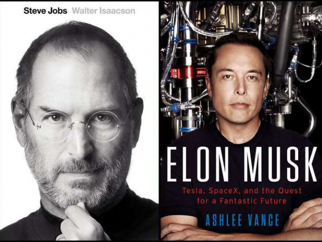 Steve Jobs and Elon Musk, two books I recommend to every person